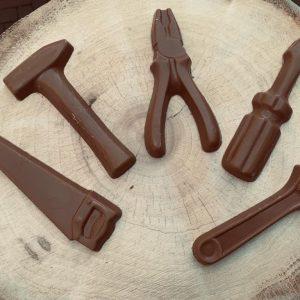 Chocolade gereedschap set melk of puur