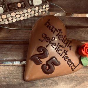 Chocolade hart met leeftijd naar keuze