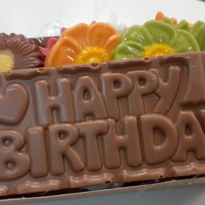 Verjaardags chocolade bakje