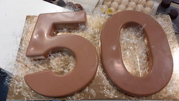 grote chocolade cijfers leeftijd