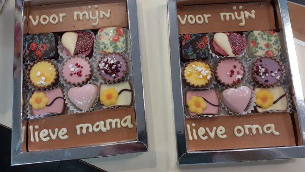 moederdag brievenbus cadeau chocolade
