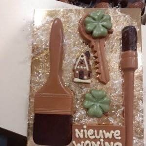 Nieuwe woning chocolade pakket
