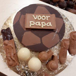 Vaderdag chocolade voetbal